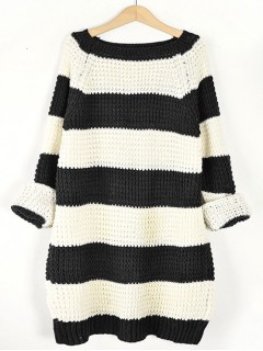 Sweter STRIPED Black