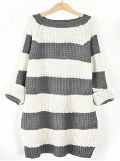Sweter STRIPED Grafit
