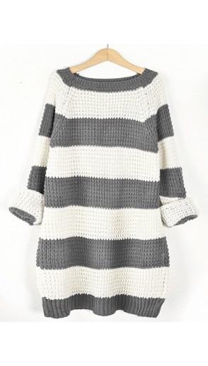 Sweter STRIPED Grafit
