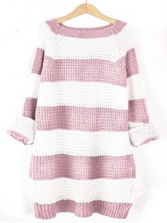 Sweter STRIPED Baby Pink