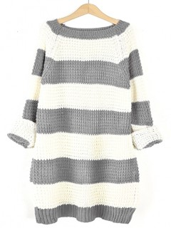 Sweter STRIPED Grey