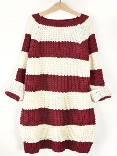 Sweter STRIPED Bordo