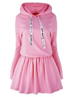 Sukienka Off White Pink