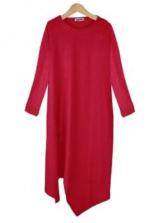 Bluzka Asymmetric Red