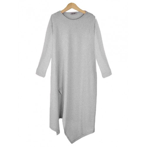 Bluzka Asymmetric Melange Grey