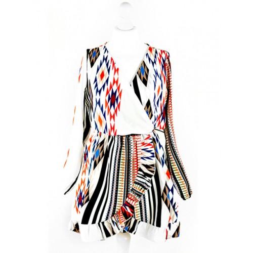 Sukienka Kopertowa Etno