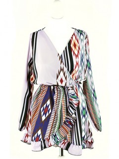Sukienka Kopertowa Aztec