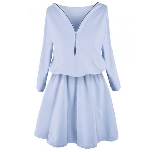 Sukienka ZIP Pastel Blue