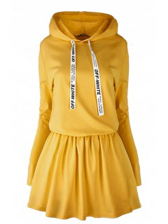 Sukienka Off White Mustard