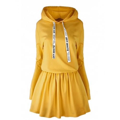 Sukienka Oll White Mustard
