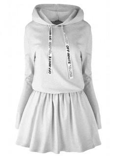 Sukienka Off White Melange