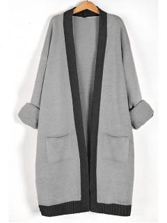 Kardigan Shiny Stylish Gray