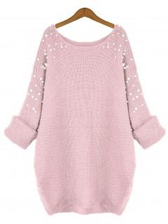Sweter Pearls Pastel Pink