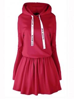 Sukienka Off White Dark Red