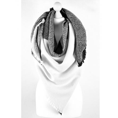 Szal Chusta Koc Black&White