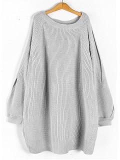 Sweterek Rozcięcia Szary