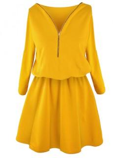 Sukienka ZIP Mustard