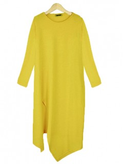 Bluzka Asymmetric Yellow