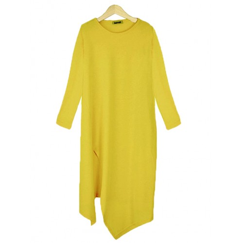 Bluzka Asymmetric Yellow