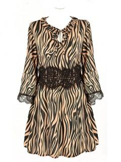 Sukienka Zebra Latte