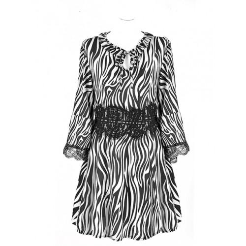 Sukienka Zebra White