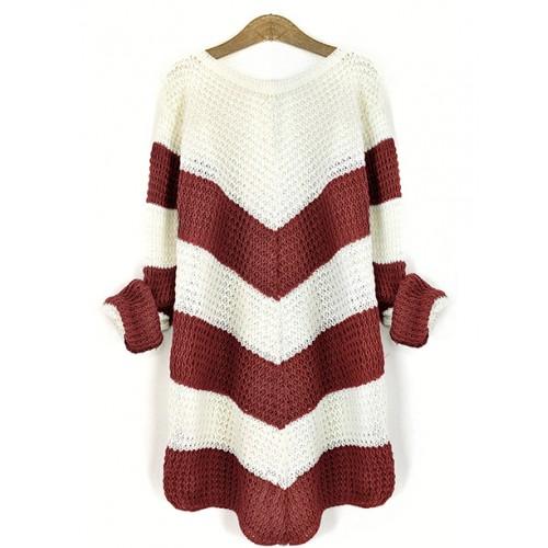 Sweter Jodełka Burgundy