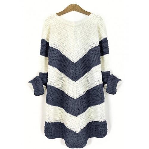 Sweter Jodełka Denim