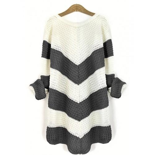 Sweter Jodełka Graphite