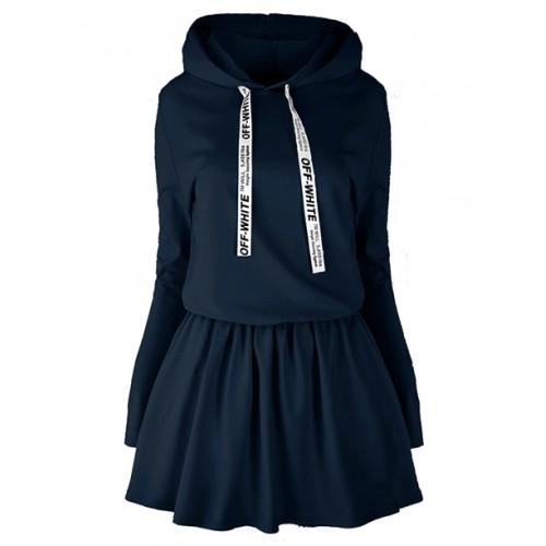 Sukienka Off White Navy Blue