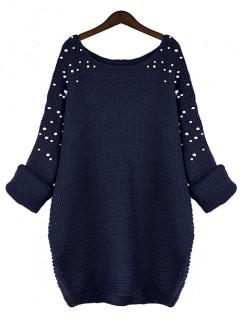 Sweter Pearls Navy Blue