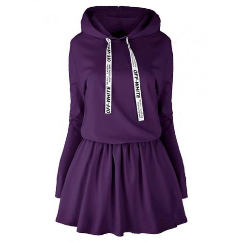 Sukienka Oll White Violet