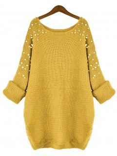 Sweter Pearls Mustard