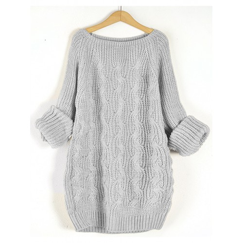 Sweter Pola Stylish Grey