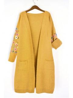 Kardigan Flower Mustard