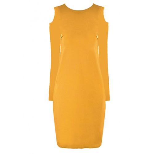 Sukienka Carmen Mustard