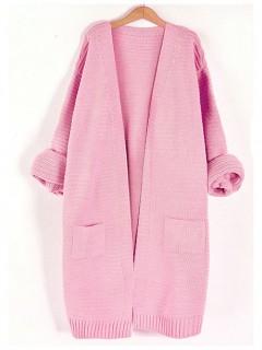 Kardigan Prążek Pink
