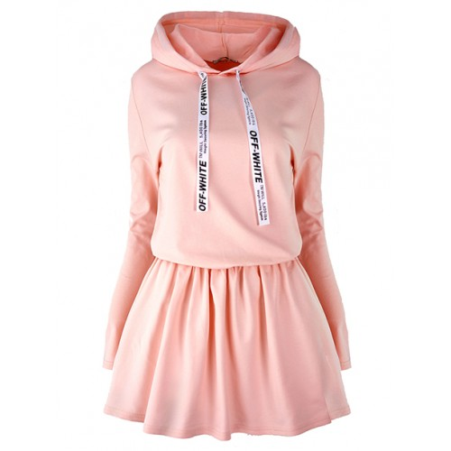 Sukienka Off White Pastel Pink
