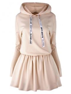 Sukienka Off White Beige