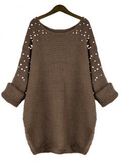 Sweter Pearls Brown