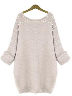 Sweter Pearls Beige