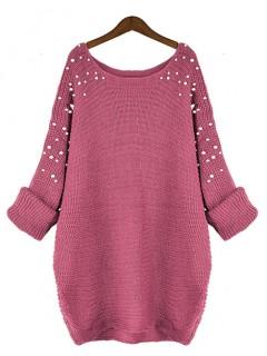 Sweter Pearls Raspberry