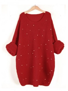 Sweter Perły Red