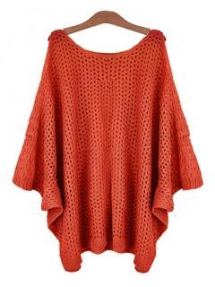 Sweter Ażur Cegła