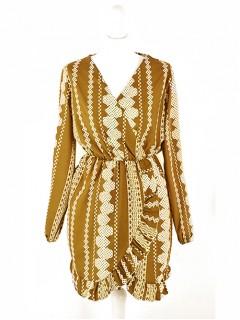 Sukienka Aztec Mustard