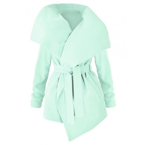 Płaszcz Flausz Wrap Mint