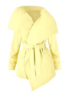 Płaszcz Flausz Wrap Pastel Yellow