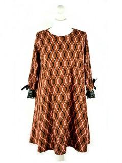 Sukienka OneSize Siatka Cinnamon