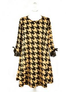 Sukienka OneSize Pepitka Mustard