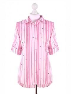 Koszula Pasy Pink