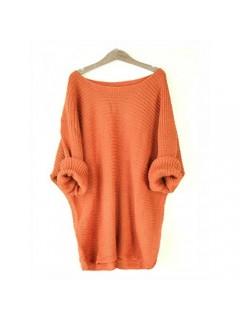Sweter Nietoperz Pomarańczowy